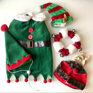 Holiday Christmas Costume + Accessories SM Dog Lot